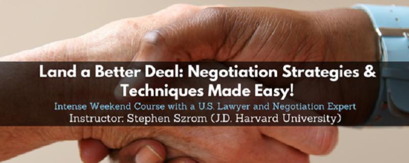 Kurs negocjacji z wykładowcą Harvard Law School