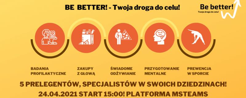 I Konferencja Online Be better! Twoja droga do celu
