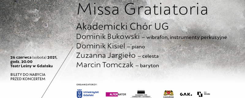 Koncert Akademickiego Chóru Uniwersytetu Gdańskiego