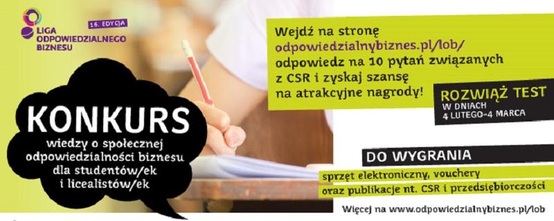 Weź udział w Ogólnopolskim Konkursie wiedzy o CSR