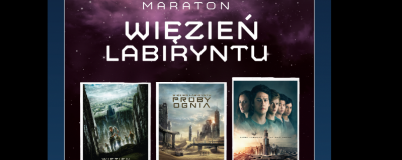 Plakat maratonu Wiezień labiryntu