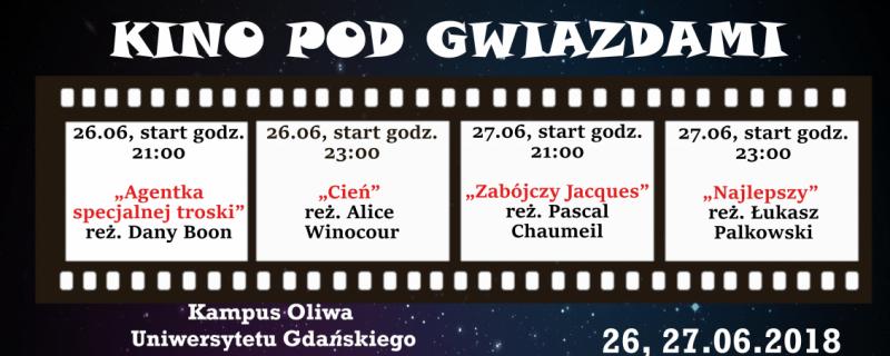 kino pod gwiazdami na UG