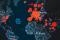 Mapa świata z zaznaczonymi ogniskami COVID-19, Photo by Erik Mclean on Unsplash