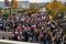 Studenci protestujący pod Biblioteką Główną UG