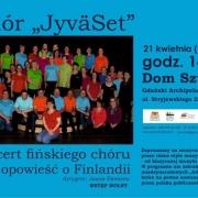 Informacja o koncercie chóru JyvaSet