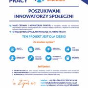 Baner rekrutacji do Wiosennego Inkubatora Innowacji