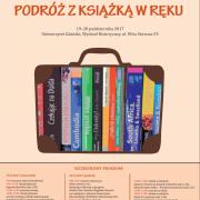 Plakat konferencji Podróż z książką w ręku