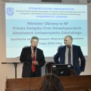 Prezes Wojciech Okoński i prowadzący spotkanie wiceprezes Stowarzyszenia Maciej Goniszewski Fot. Jerzy Uklejewski